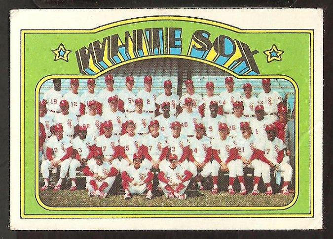 CHICAGO WHITE SOX TEAM CARD 1972 TOPPS # 381 VG