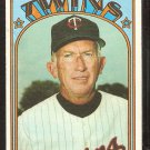 MINNESOTA TWINS BILL RIGNEY 1972 TOPPS # 389 VG
