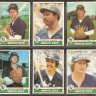 1979 TOPPS CHICAGO WHITE SOX TEAM LOT 6 DIFF GARR KESSINGER KRAVEC BANNISTER