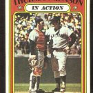 NEW YORK YANKEES THURMAN MUNSON IN ACTION 1972 TOPPS # 442 EX