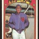NEW YORK METS GIL HODGES 1972 TOPPS # 465 fair