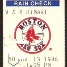 CALIFORNIA ANGELS BOSTON RED SOX 1986 TICKET DOWNING SCHOFIELD HR WADE BOGGS