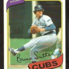 CHICAGO CUBS BRUCE SUTTER 1980 TOPPS # 17 NR MT