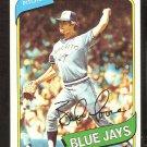 TORONTO BLUE JAYS BALOR MOORE 1980 TOPPS # 19 EX MT