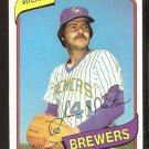 MILWAUKEE BREWERS JIM SLATON 1980 TOPPS # 24 NR MT
