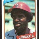 ST LOUIS CARDINALS TONY SCOTT 1980 TOPPS # 33 NR MT
