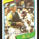OAKLAND ATHLETICS JEFF NEWMAN 1980 TOPPS # 34 NR MT