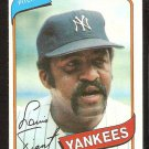 NEW YORK YANKEES LUIS TIANT 1980 TOPPS # 35 NR MT