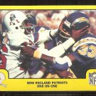1978 FLEER # 32 NEW ENGLAND PATRIOTS 1 ON 1 vs SAN DIEGO CHARGERS EX