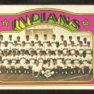 CLEVELAND INDIANS TEAM CARD 1972 TOPPS # 547 VG/EX