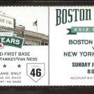 NEW YORK YANKEES BOSTON RED SOX 2012 TICKET TEIXEIRA HR DEREK JETER 3 HITS CIRIACO 3 HITS