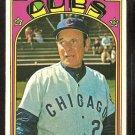 CHICAGO CUBS LEO DUROCHER 1972 TOPPS # 576 EX/EM