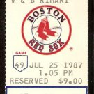 SEATTLE MARINERS BOSTON RED SOX 1987 TICKET BURKS BOGGS JIM RICE SAM HORN 1ST GAME HR