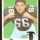 ATLANTA FALCONS JIM SIMON ROOKIE CARD RC 1969 TOPPS # 184 VG