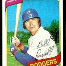 LOS ANGELES DODGERS BILL RUSSELL 1980 TOPPS # 75 NR MT