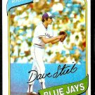 TORONTO BLUE JAYS DAVE STIEB ROOKIE CARD RC 1980 TOPPS # 77 EX/NM