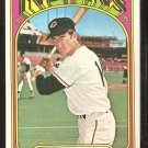 CLEVELAND INDIANS FRANK DUFFY 1972 TOPPS # 607 VG/EX