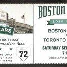 TORONTO BLUE JAYS BOSTON RED SOX 2012 TICKET ESCOBAR GOSE HOME RUNS