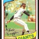 SAN FRANCISCO GIANTS BOB KNEPPER 1980 TOPPS # 111 NR MT