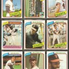 1980 TOPPS SAN FRANCISCO GIANTS TEAM LOT 26 DIFF McCOVEY JACK CLARK TEAM CARD DARRELL EVANS VIDA