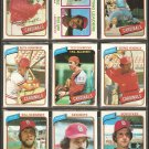 1980 TOPPS ST LOUIS CARDINALS TEAM LOT 26 DIFF HERNANDEZ SIMMONS HENDRICK TEMPLETON