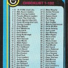 1979 TOPPS # 181 CHECKLIST #1-132 UNMARKED VG/EX OC