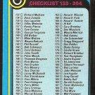 1979 TOPPS # 237 CHECKLIST #133-264 UNMARKED EX OC
