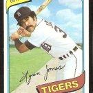 DETROIT TIGERS LYNN JONES 1980 TOPPS # 123 NR MT