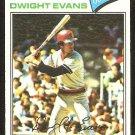 BOSTON RED SOX DWIGHT EVANS 1977 TOPPS # 25 VG/EX