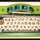 CINCINNATI REDS TEAM CARD W/ PETE ROSE JOHNNY BENCH 1972 TOPPS # 651 VG