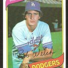 LOS ANGELES DODGERS BOB WELCH 1980 TOPPS # 146 NR MT