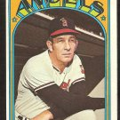 CALIFORNIA ANGELS DEL RICE 1972 TOPPS # 718 VG