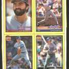 1991 TOPPS PANEL RANGERS NOLAN RYAN BREWERS ROBIN YOUNT REARDON SAMUEL