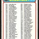 CHECKLIST 133-264 UNMARKED 1978 TOPPS # 259 ex