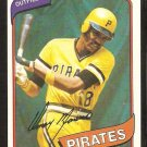 PITTSBURGH PIRATES OMAR MORENO 1980 TOPPS # 165 NM