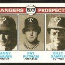 TEXAS RANGERS FUTURE PROSPECTS DANNY DARWIN PAT PUTNAM BILLY SAMPLE 1979 TOPPS # 713 EX