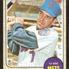 NEW YORK METS ED KRANEPOOL 1968 TOPPS # 92