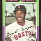 BOSTON RED SOX CECIL COOPER 1975 TOPPS # 489 good