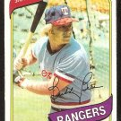 TEXAS RANGERS BUDDY BELL 1980 TOPPS # 190 NM/MT