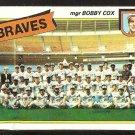 ATLANTA BRAVES TEAM CARD W/ BOBBY COX 1980 TOPPS # 192