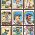 1980 TOPPS MILWAUKEE BREWERS TEAM LOT 27 DIFF ROBIN YOUNT MOLITOR COOPER THOMAS +