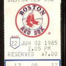TEXAS RANGERS BOSTON RED SOX 1985 TICKET JIM RICE HR WADE BOGGS 2 HITS