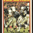 NEW ENGLAND PATRIOTS JIM NANCE PRO ACTION 1972 TOPPS # 119 VG