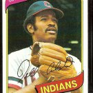 CLEVELAND INDIANS DELL ALSTON 1980 TOPPS # 198 NR MT