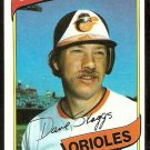 BALTIMORE ORIOLES DAVE SKAGGS 1980 TOPPS # 211 NR MT