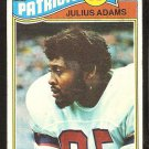 NEW ENGLAND PATRIOTS JULIUS ADAMS 1977 TOPPS # 139 VG+