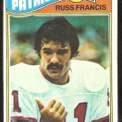 NEW ENGLAND PATRIOTS RUSS FRANCIS 1977 TOPPS # 251 EX