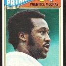 NEW ENGLAND PATRIOTS PRENTICE McCRAY 1977 TOPPS # 272 VG/EX