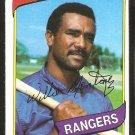 TEXAS RANGERS WILLIE MONTANEZ 1980 TOPPS # 224 NM SOC