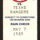 TEXAS RANGERS BOSTON RED SOX 1989 TICKET WADE BOGGS HR 2 HITS